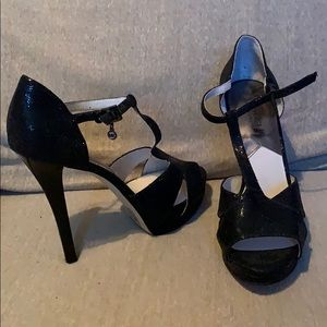 Michael Kors Black Glittered Heels